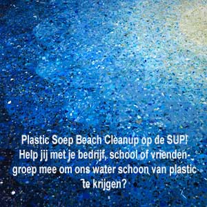 Plastic soep sup beach cleanup